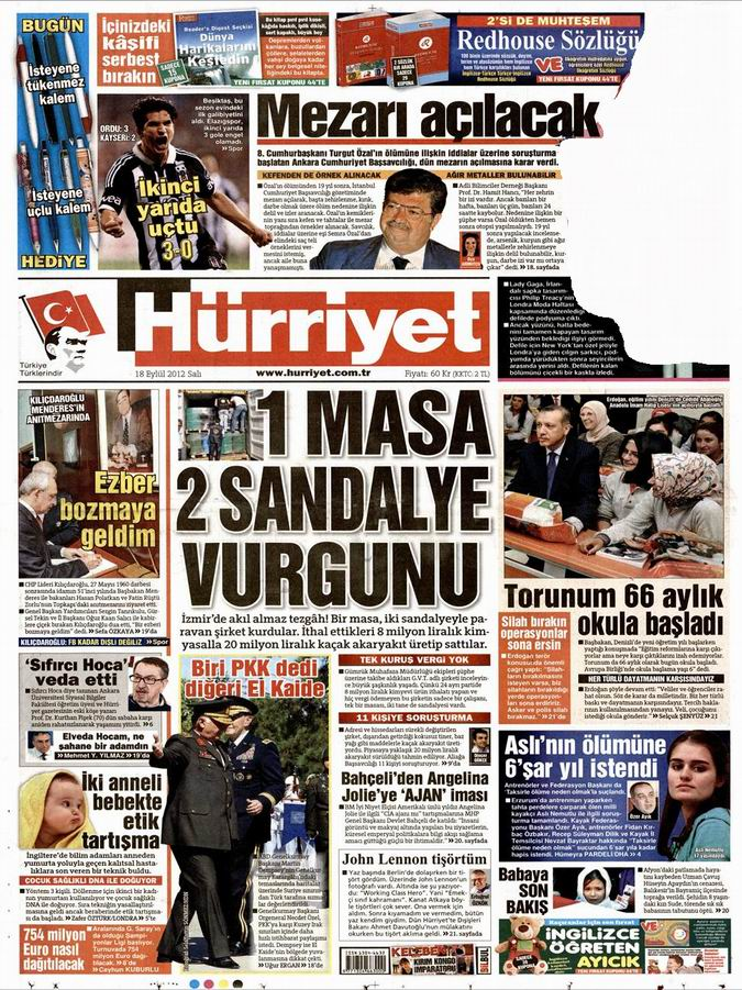 Gazete Manşetleri - 18 Eylül Salı 17