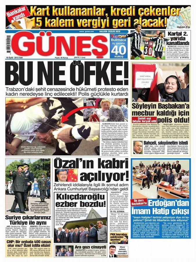 Gazete Manşetleri - 18 Eylül Salı 19