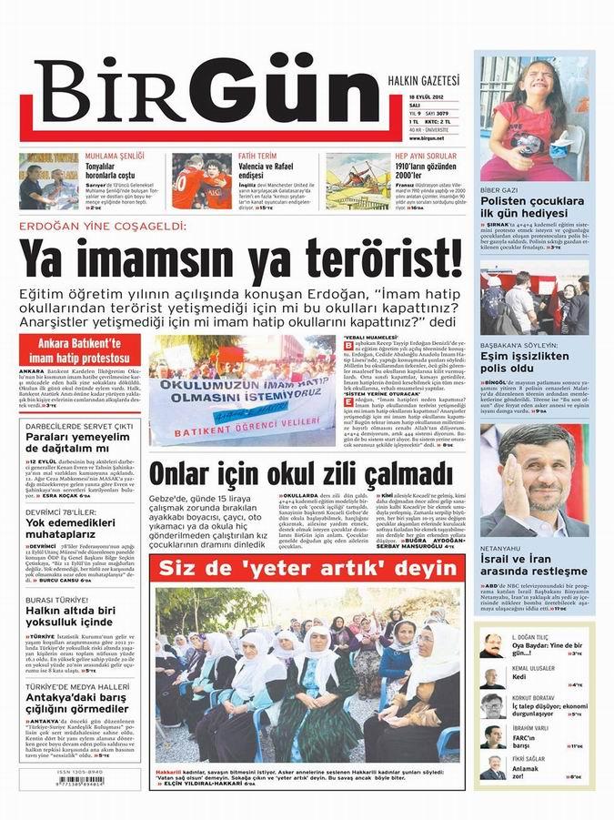 Gazete Manşetleri - 18 Eylül Salı 22