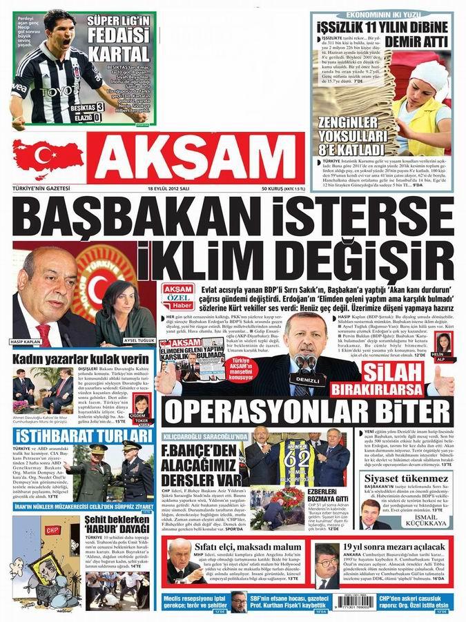 Gazete Manşetleri - 18 Eylül Salı 23