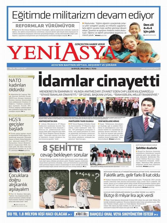 Gazete Manşetleri - 18 Eylül Salı 3