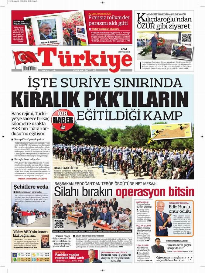 Gazete Manşetleri - 18 Eylül Salı 6
