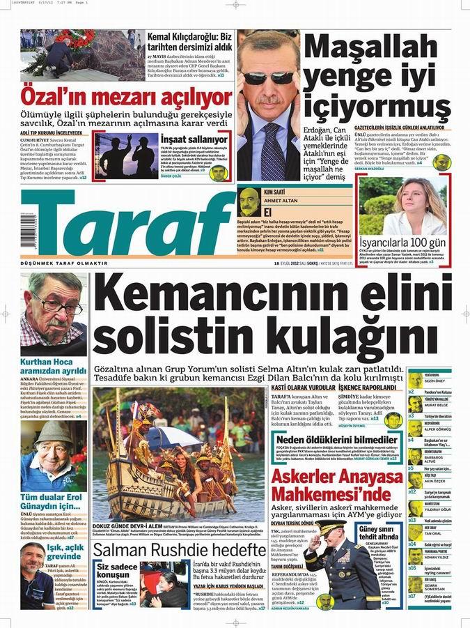 Gazete Manşetleri - 18 Eylül Salı 7