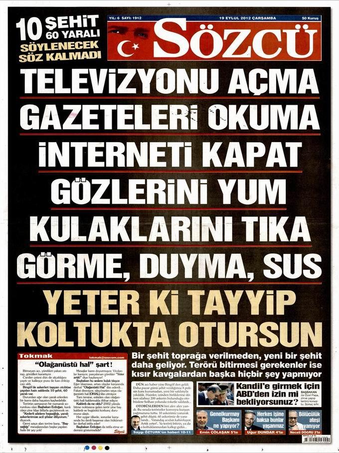 Gazete Manşetleri - 19 Eylül Çarşamba 10