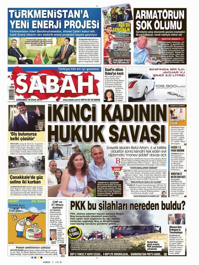 Gazete Manşetleri - 19 Eylül Çarşamba 11