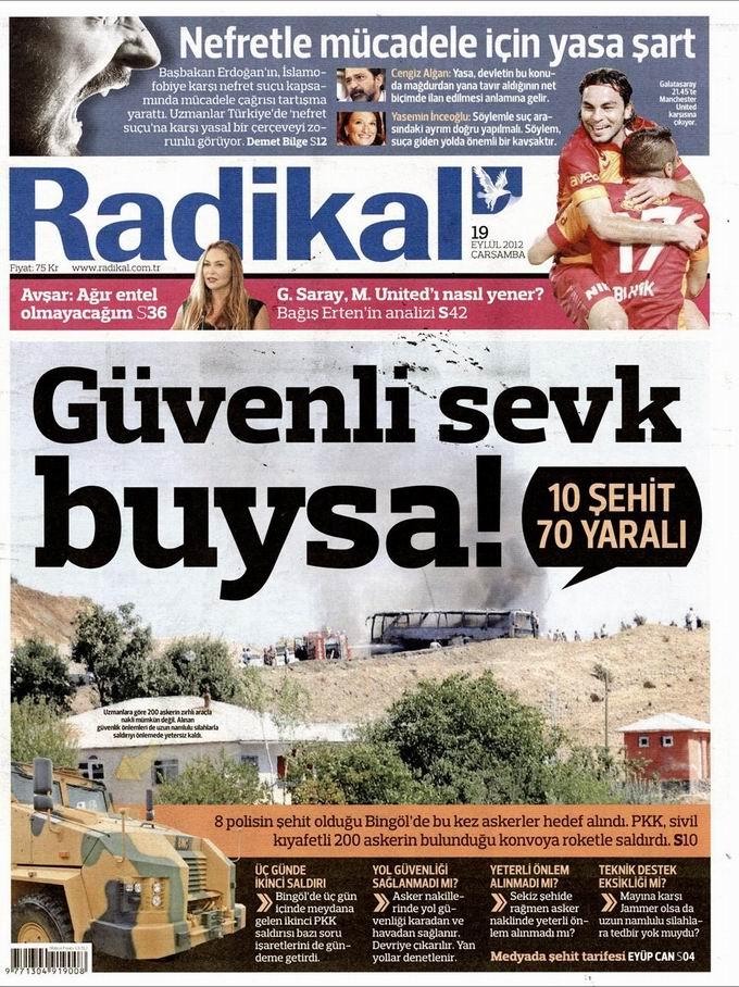 Gazete Manşetleri - 19 Eylül Çarşamba 12