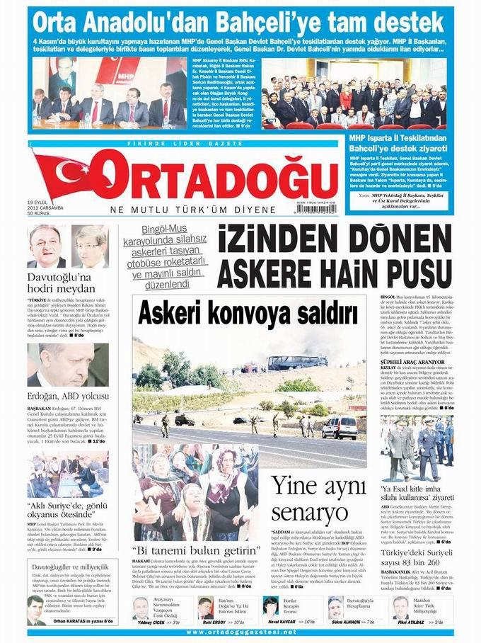 Gazete Manşetleri - 19 Eylül Çarşamba 14
