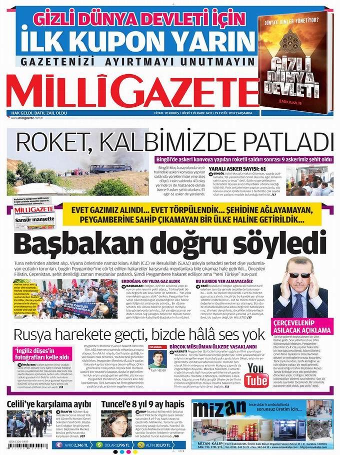 Gazete Manşetleri - 19 Eylül Çarşamba 16