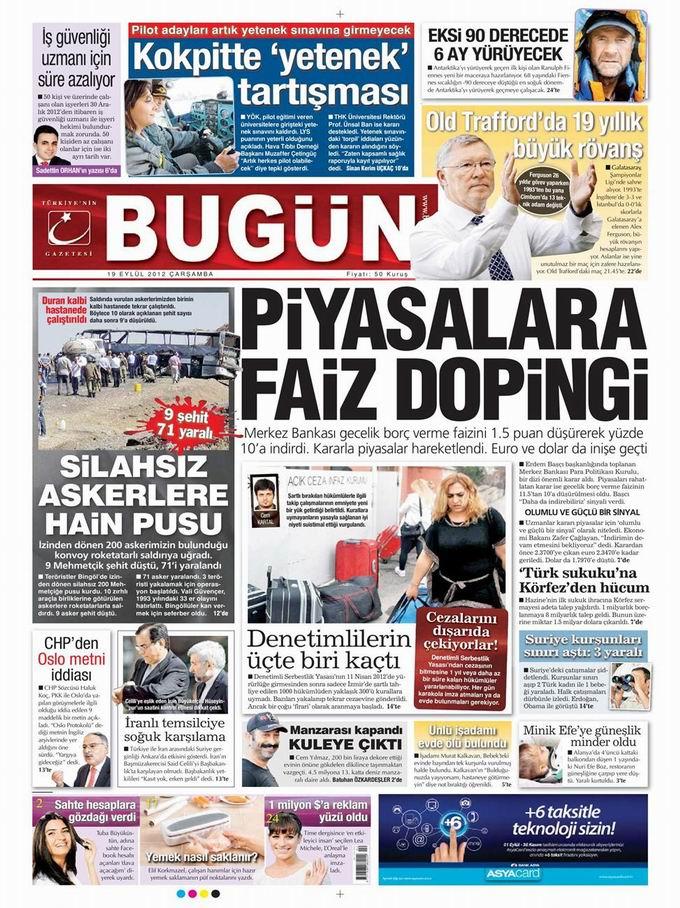 Gazete Manşetleri - 19 Eylül Çarşamba 23