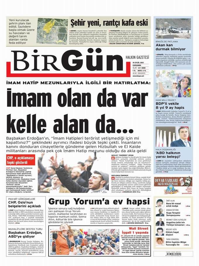 Gazete Manşetleri - 19 Eylül Çarşamba 24