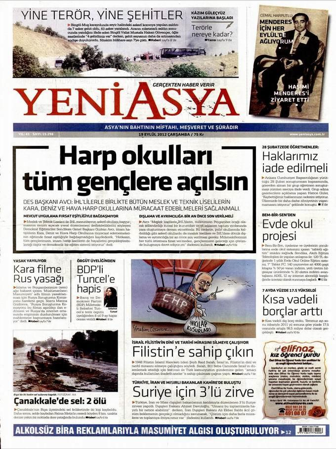 Gazete Manşetleri - 19 Eylül Çarşamba 3