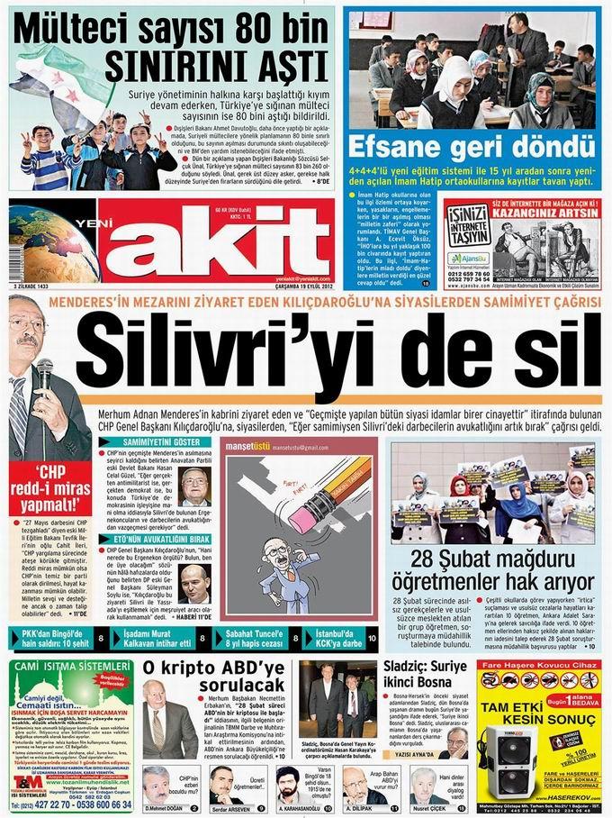 Gazete Manşetleri - 19 Eylül Çarşamba 4