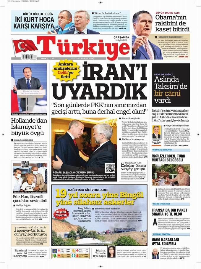Gazete Manşetleri - 19 Eylül Çarşamba 6