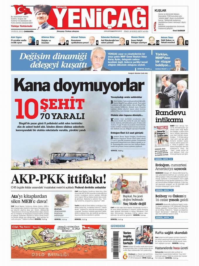 Gazete Manşetleri - 19 Eylül Çarşamba 7