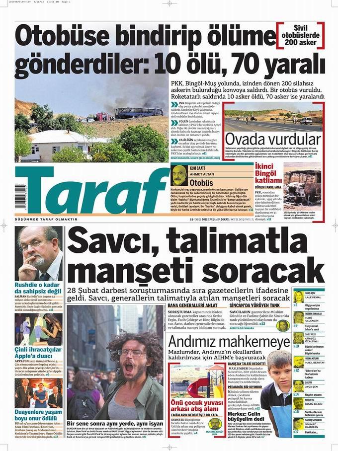 Gazete Manşetleri - 19 Eylül Çarşamba 8