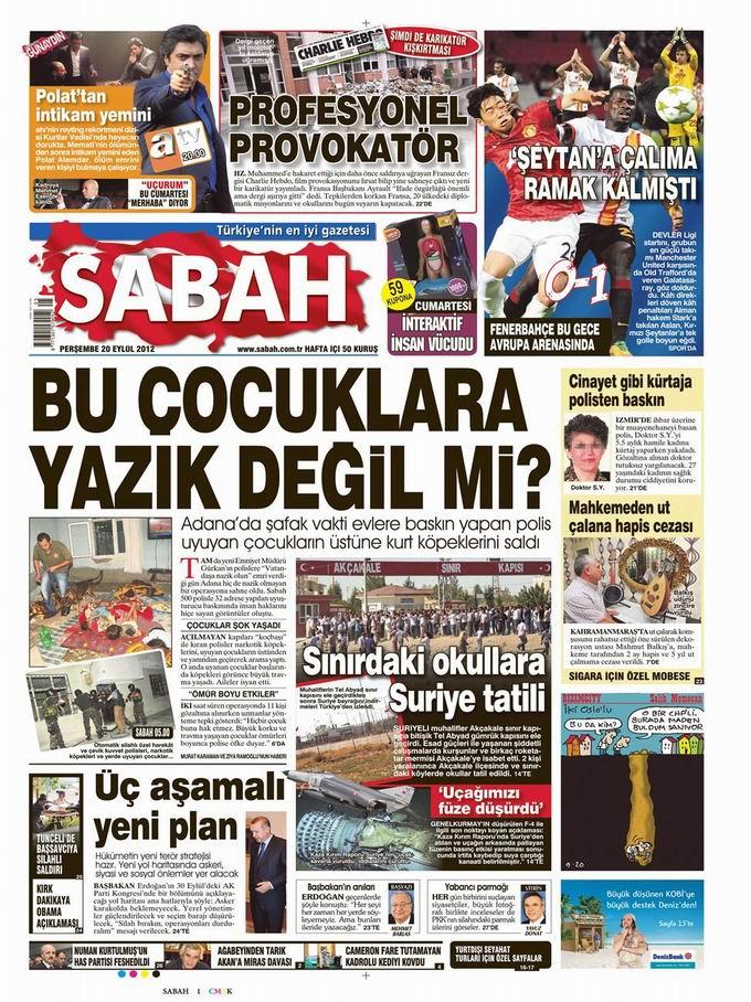 Gazete Manşetleri - 20 Eylül Perşembe 10