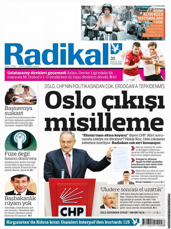 Gazete Manşetleri - 20 Eylül Perşembe 11