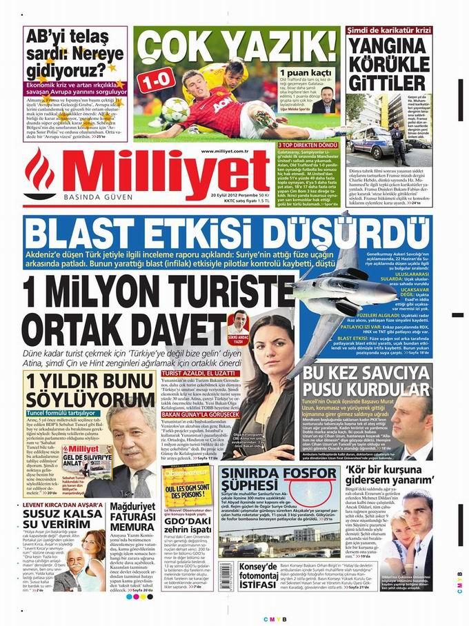 Gazete Manşetleri - 20 Eylül Perşembe 13