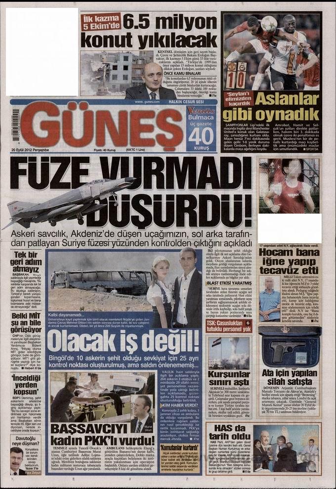 Gazete Manşetleri - 20 Eylül Perşembe 18