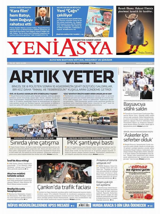 Gazete Manşetleri - 20 Eylül Perşembe 3