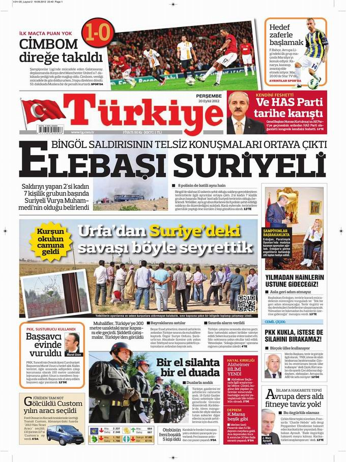 Gazete Manşetleri - 20 Eylül Perşembe 6
