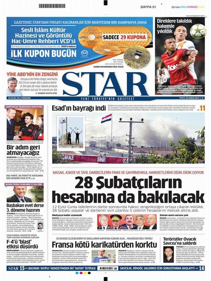 Gazete Manşetleri - 20 Eylül Perşembe 8
