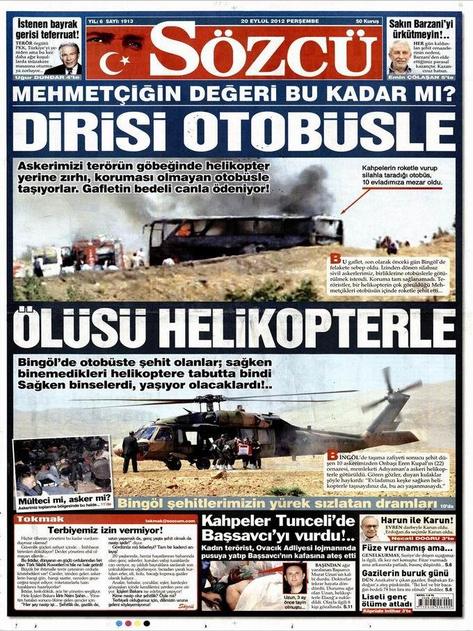 Gazete Manşetleri - 20 Eylül Perşembe 9