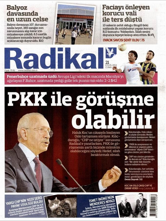 Gazete Manşetleri - 21 Eylül Cuma 12
