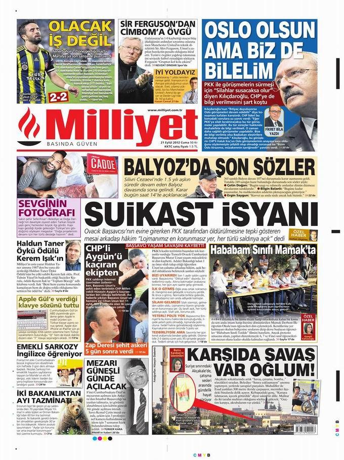Gazete Manşetleri - 21 Eylül Cuma 15