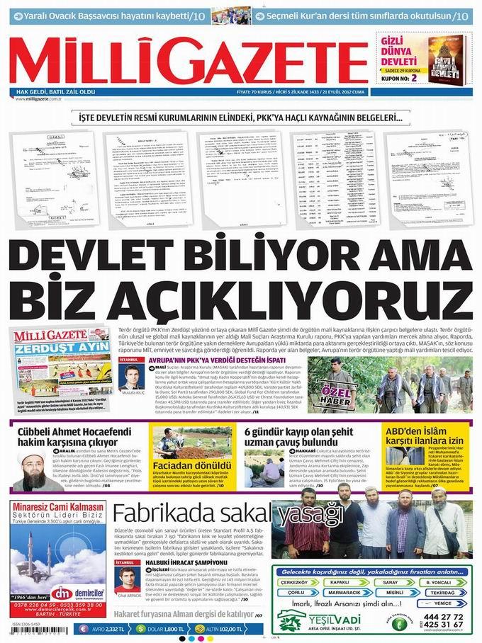 Gazete Manşetleri - 21 Eylül Cuma 16