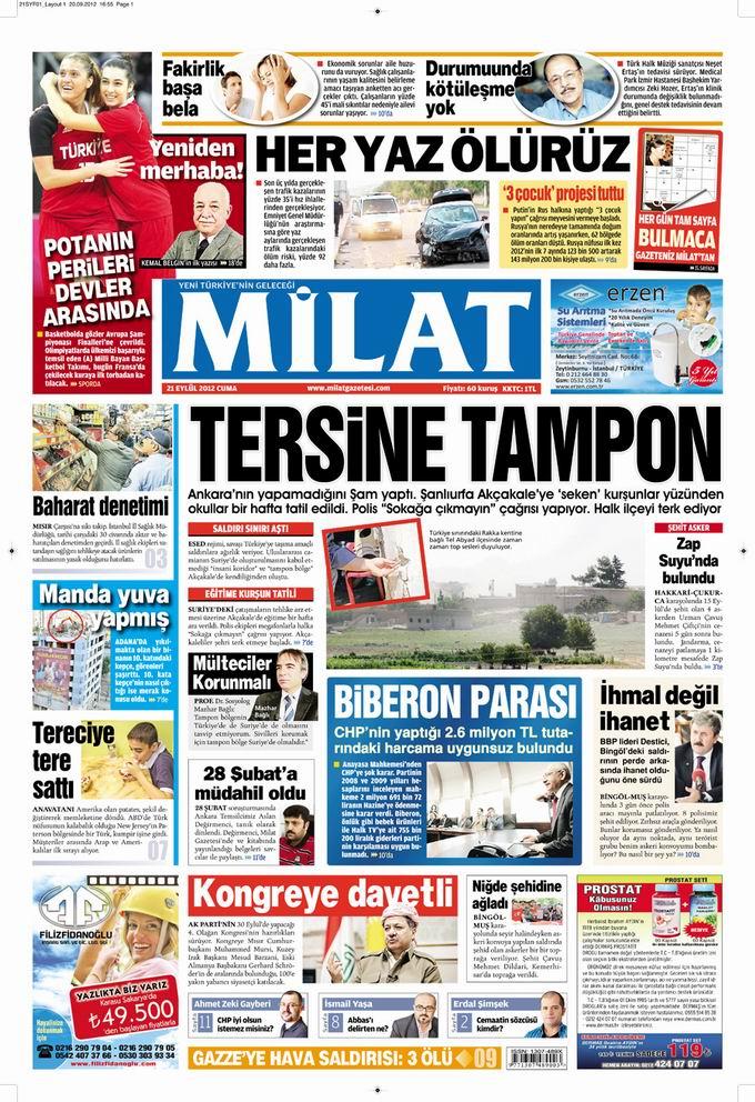 Gazete Manşetleri - 21 Eylül Cuma 17
