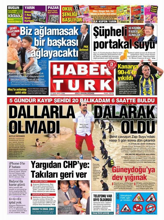 Gazete Manşetleri - 21 Eylül Cuma 19