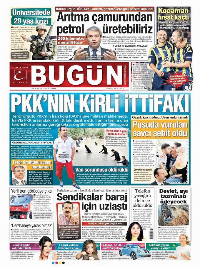 Gazete Manşetleri - 21 Eylül Cuma 22
