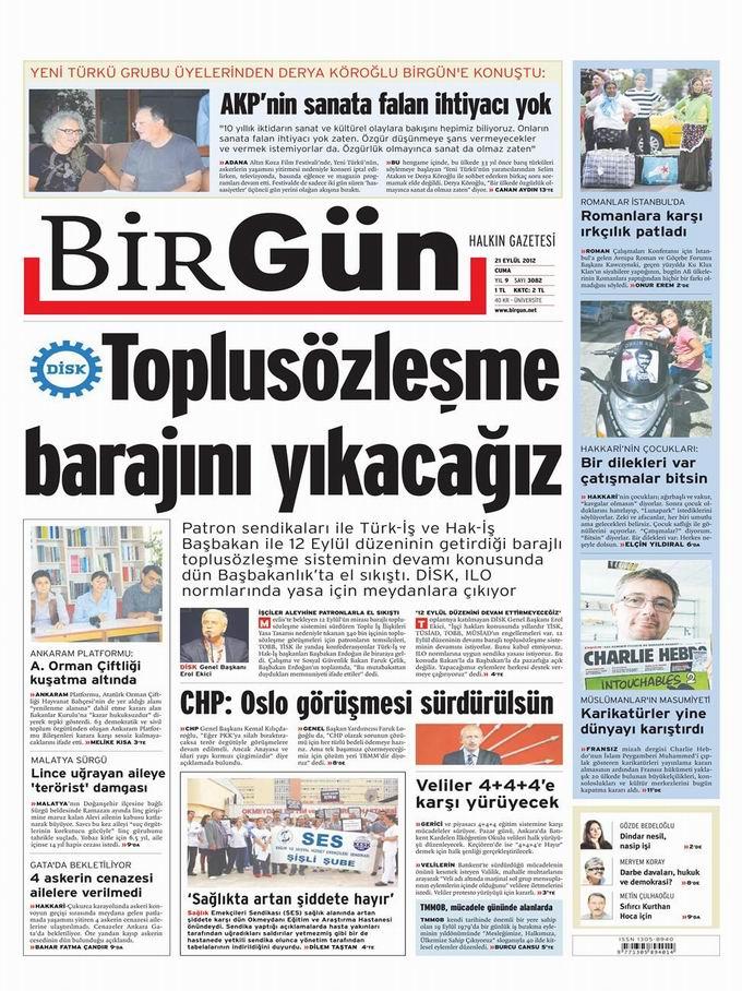 Gazete Manşetleri - 21 Eylül Cuma 23
