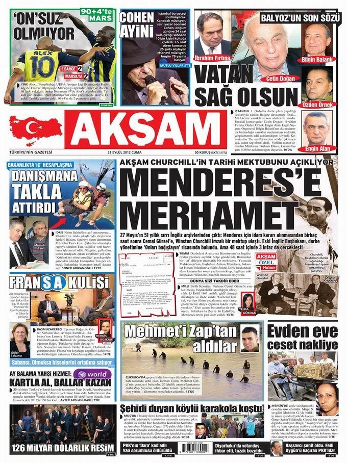 Gazete Manşetleri - 21 Eylül Cuma 24