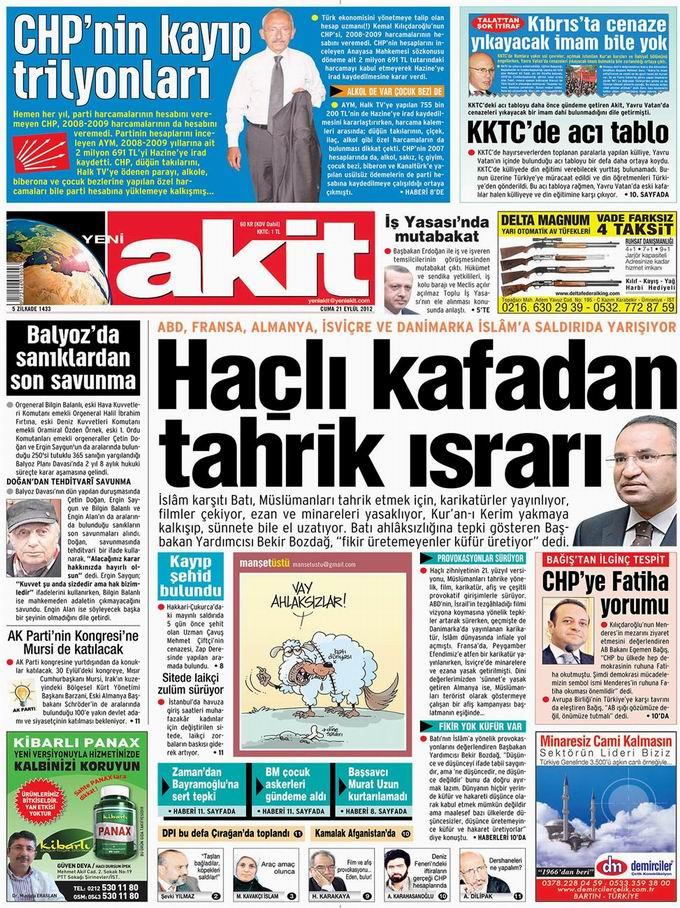 Gazete Manşetleri - 21 Eylül Cuma 4