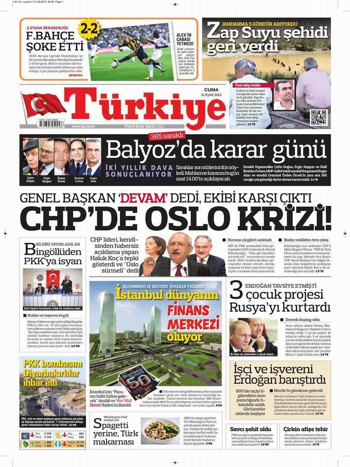Gazete Manşetleri - 21 Eylül Cuma 6