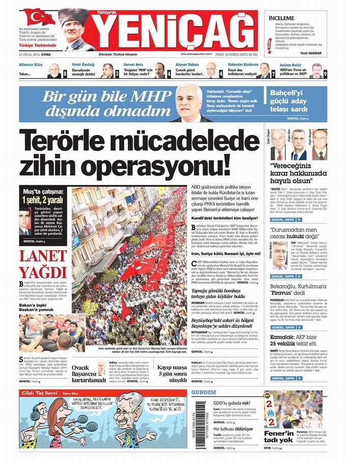 Gazete Manşetleri - 21 Eylül Cuma 7