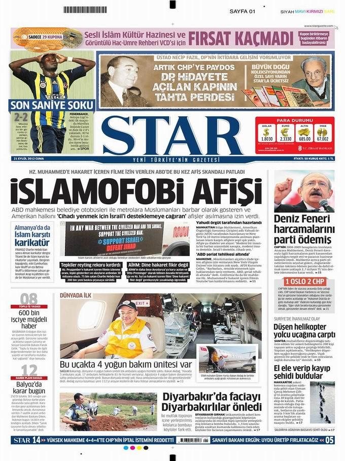 Gazete Manşetleri - 21 Eylül Cuma 9