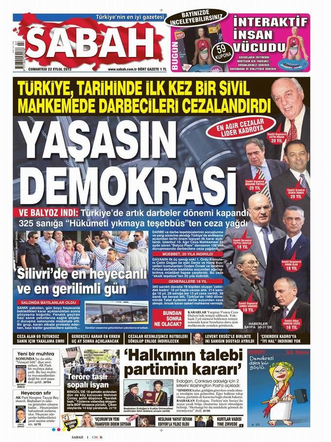 Gazete Manşetleri - 22 Eylül Cumartesi 11