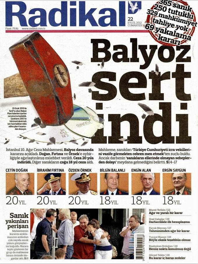 Gazete Manşetleri - 22 Eylül Cumartesi 12