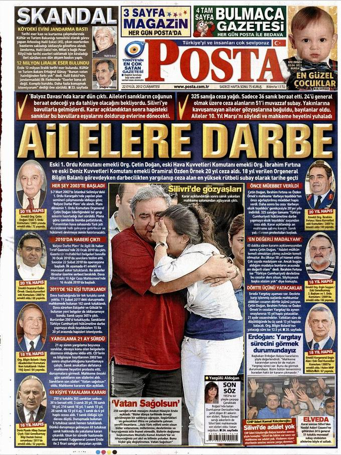 Gazete Manşetleri - 22 Eylül Cumartesi 13