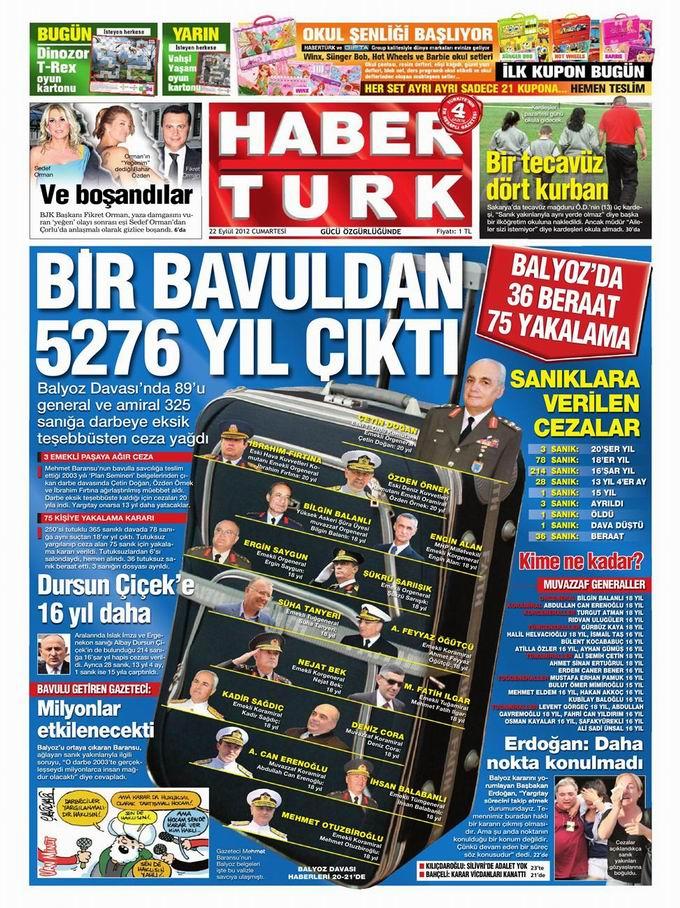 Gazete Manşetleri - 22 Eylül Cumartesi 19