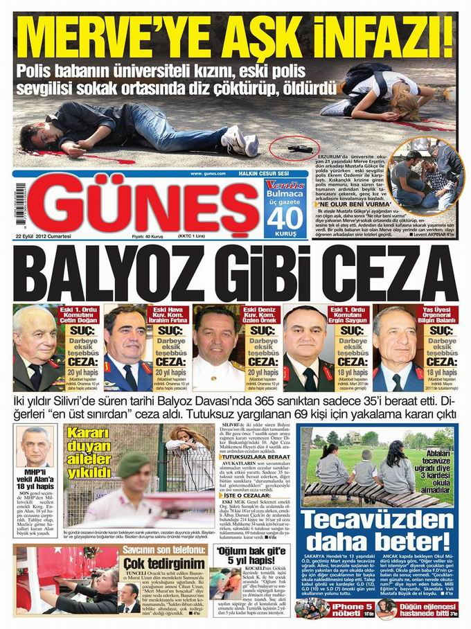 Gazete Manşetleri - 22 Eylül Cumartesi 20