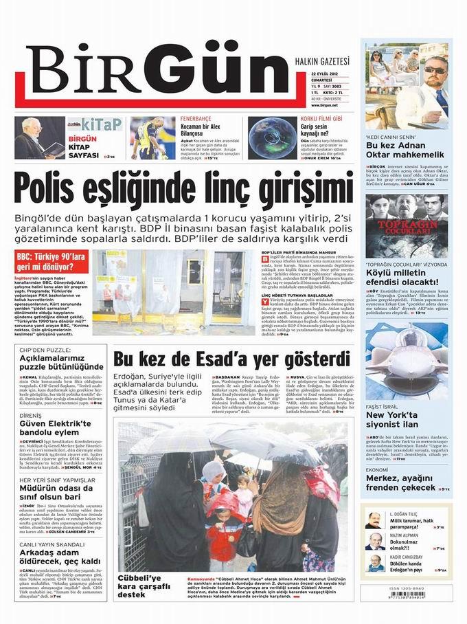 Gazete Manşetleri - 22 Eylül Cumartesi 24