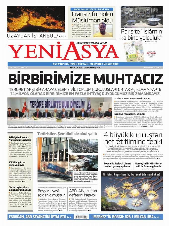 Gazete Manşetleri - 22 Eylül Cumartesi 3