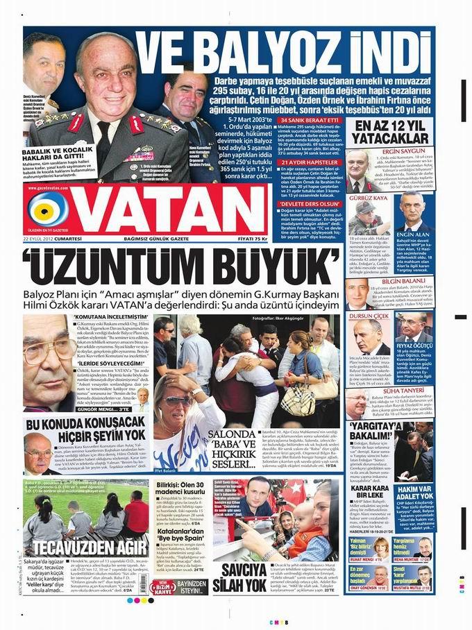 Gazete Manşetleri - 22 Eylül Cumartesi 5