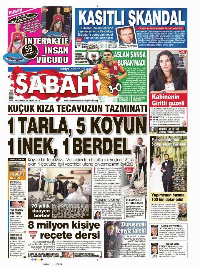 Gazete Manşetleri - 24 Eylül Pazartesi 11