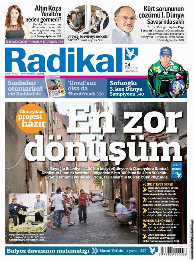 Gazete Manşetleri - 24 Eylül Pazartesi 12