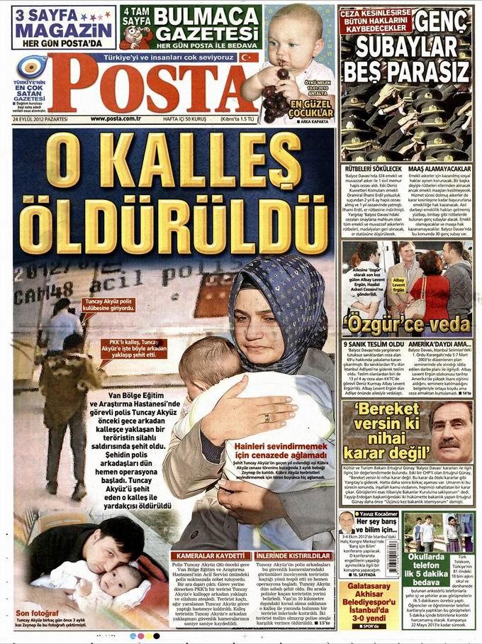 Gazete Manşetleri - 24 Eylül Pazartesi 13